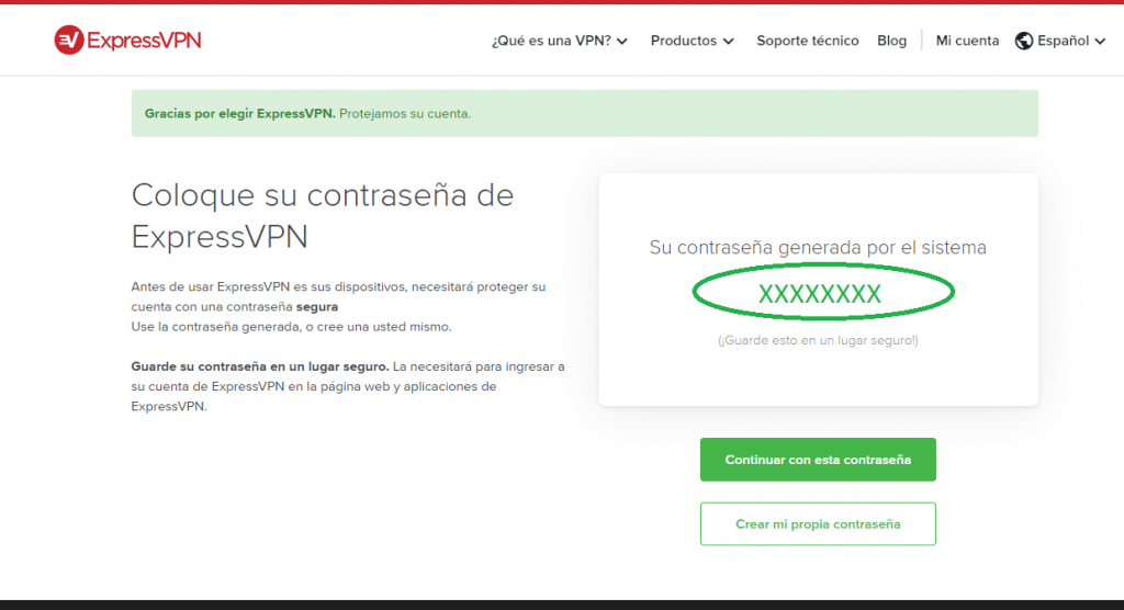 Password ExpressVPN