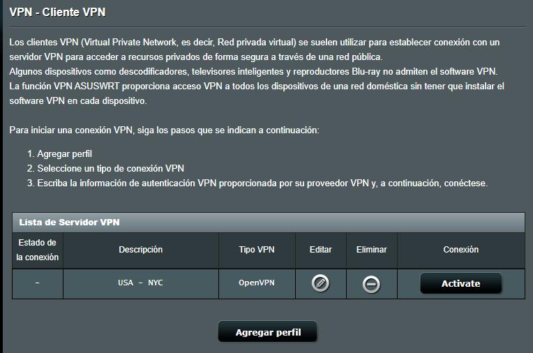Activar VPN Router Asus