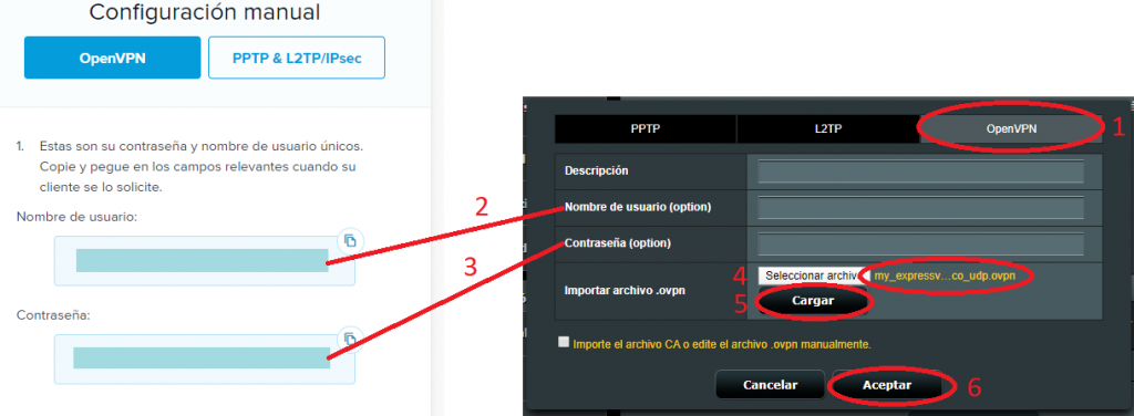 Configurar VPN router Asus