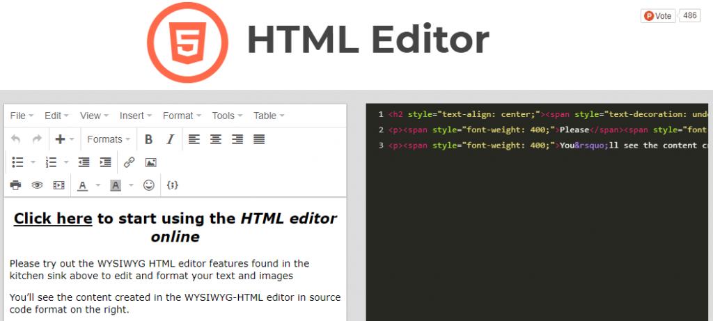 Herramientas de conversión de editor de texto a HTML