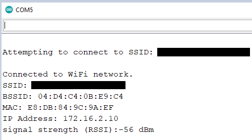 Connected to WiFi network - AT Firmware